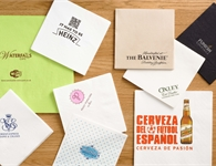 Personalised napkins are available in a range of sizes, materials & print options