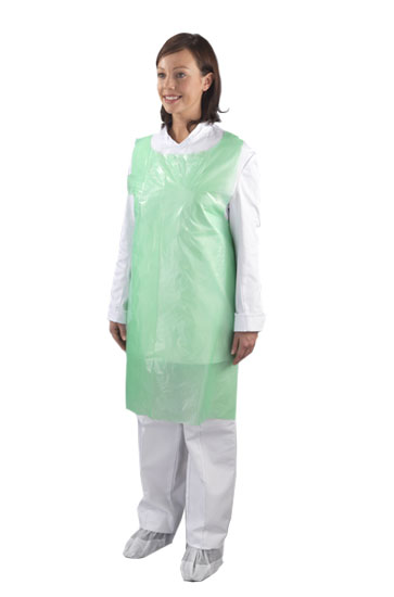 Apron Disposable Green (Flat) EGA