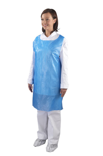 Apron Disposable Blue (Flat)