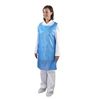 Premium Heavy Duty Apron Disposable Blue (Flat Packed)