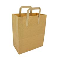 Brown Paper Carrier (L) 10x15.5x12 (11717)