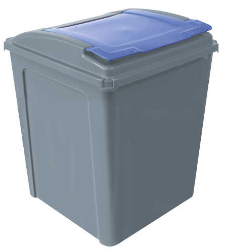 Bin ECO 50ltr Waste Recycling (Blue)