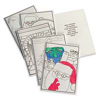 Colpac Colour-in Christmas Cards (5 Designs)