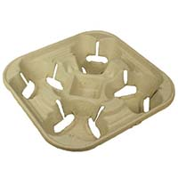 Compostable 4 Cup Carrier (new pack size) 1237