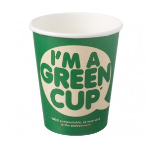 'I'm a green cup' 8oz Single Wall Cup