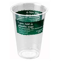 PLA CupClear 7oz Printed 'I am not a plastic cup'