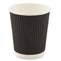 Sustainable 12oz Black Ripple Cup 11787