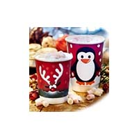 Penguin 12oz Double Wall Cup