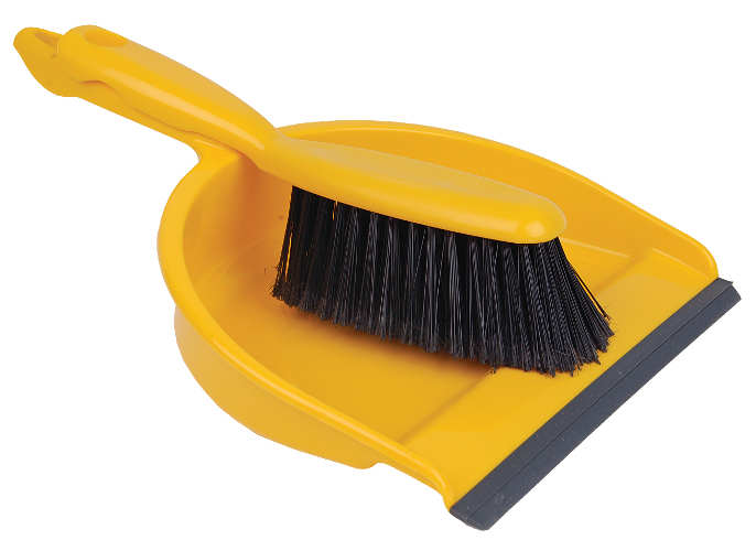 Open Dustpan & Brush Yellow