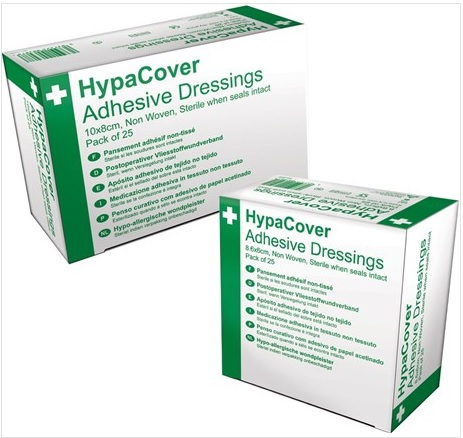 HypaCover Adhesive Dressings (LARGE) 10x8cm