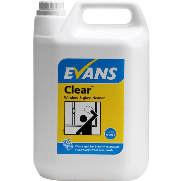 Evans Clear Glass Cleaner (5lt)