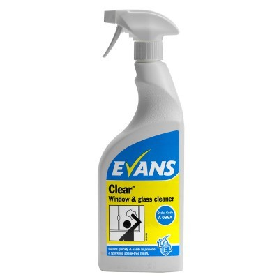 Evans Clear Glass Cleaner (6x750ml)