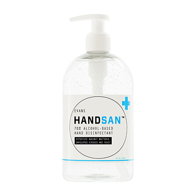 Evans Handsan Sanitiser Pump (500ml)