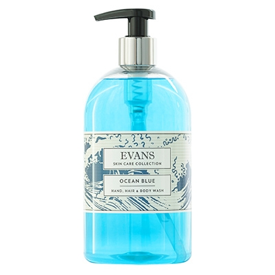 Evans Ocean Blue Soap Pump (6x500ml)