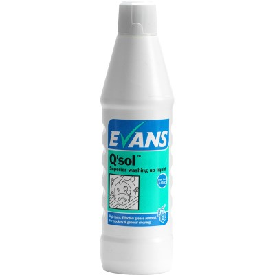 Evans Q-Sol Concentrated Washing Up Liquid (1lt)