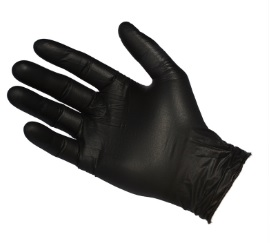 Glove Nitrile Black (NBF3603) Powder Free LL (HD)