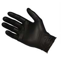 Glove Nitrile Black (NBF3604) Powder Free XL (HD)