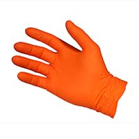 Glove Nitrile Orange NOF3703 Powder Free LARGE