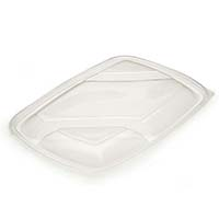 Lid for 3 Compartment Black Microwavable Container