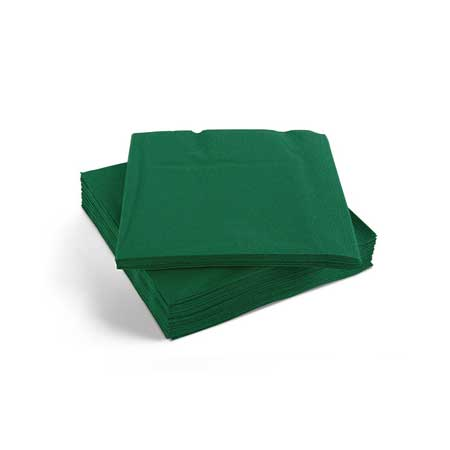 Napkin 25/2ply Forest Green