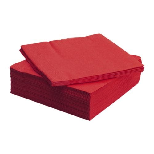 Napkin 25/2ply Red
