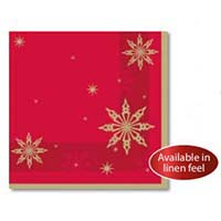 Napkin 40cm 2Ply Red & Green Stars