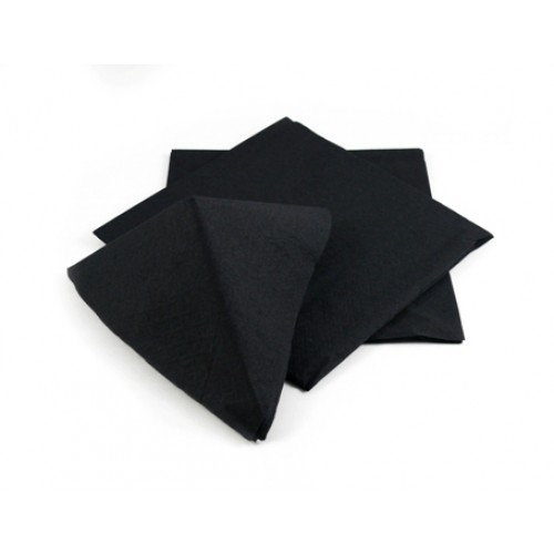 Napkin 25/2ply Black