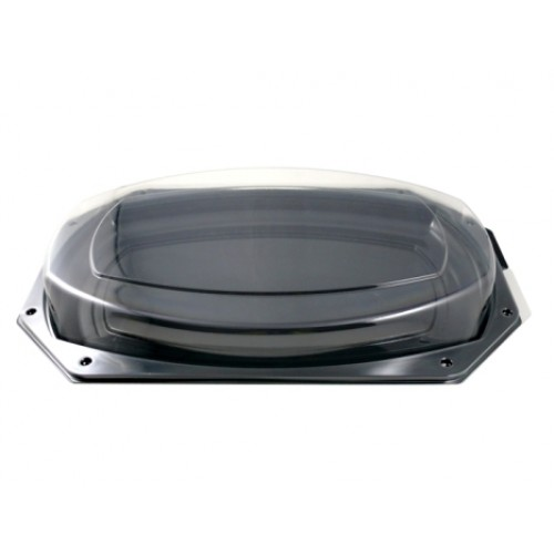Celebration Octagonal Black Platter 43x28cm (DSPLB)
