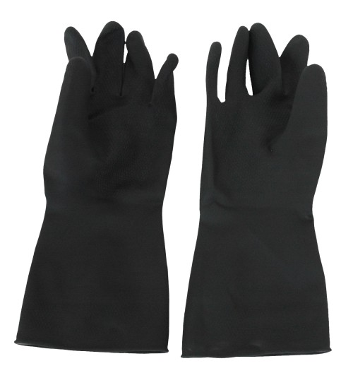 Glove Black HD Rubber (M) (GI6406) SIZE 8