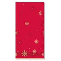 Wipeable Table Cover Red & Green Star