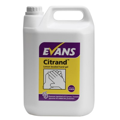 Citrand - the new lemon beaded hand gel from Evans vanodine